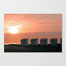 Pink Sunset over the North Sea Canvas Print