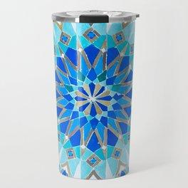 Moroccan Tile - Zellige II Cobalt Travel Mug