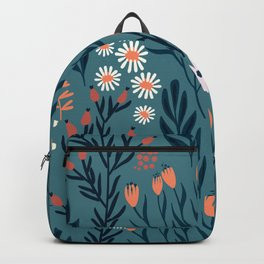 Beautiful Springtime Garden Daisy And Tulip Pattern Backpack