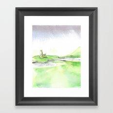 Watercolor Ardvreck Castle Framed Art Print