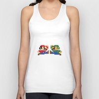 mario Tank Tops featuring Mario by Megan Twisted