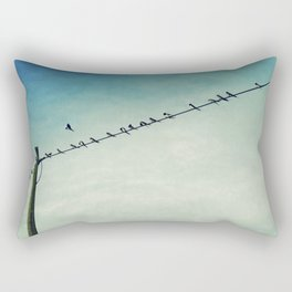 stepping out of line Rectangular Pillow