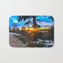 Sunset/Sunburst from the West End of Portland, Maine (2) Bath Mat