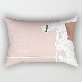 Star Ferry, Hong Kong Travel Poster Rectangular Pillow