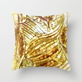 Evening Gown In Abstract Throw Pillow