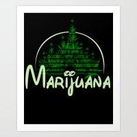 marijuana Art Prints featuring Marijuana  by FandomizedRose