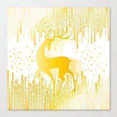 Dancing Deer  - Golden Canvas Print