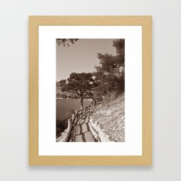There is no yellow brick road. Framed Art Print