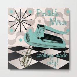 Fifites Kitchen Hand Mixer Metal Print