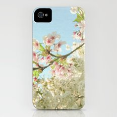 Pink on White iPhone (4, 4s) Slim Case