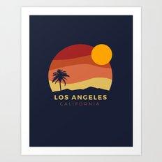Los Angeles Sunset Art Print