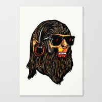 teen wolf Canvas Prints featuring Teen Wolf by Vasco Vicente