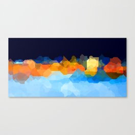 Sky, City and water Canvas Print