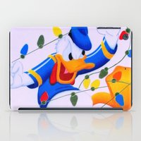 donald duck iPad Cases featuring Donald Duck Holidays by Brian David