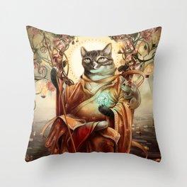 Jizo Bodhissatva Throw Pillow