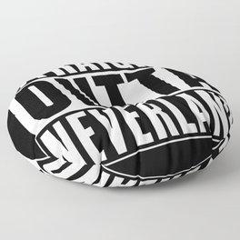 Straight Outta Neverland Floor Pillow