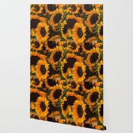 Suflower Basket Wallpaper