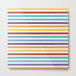 Modern geometrical colorful rainbow stripes Metal Print