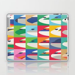 Retro Airline Nose Livery Design - Grid Small Laptop & iPad Skin