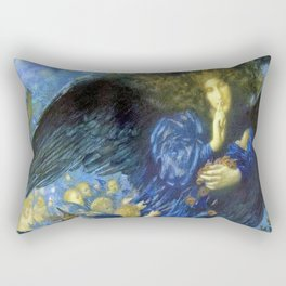 Night with her Train of Stars by Edward Robert Hughes Rectangular Pillow