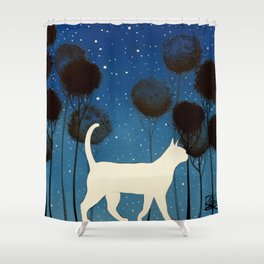 THE POETRY OF A NIGHT by Raphaël Vavasseur Shower Curtain