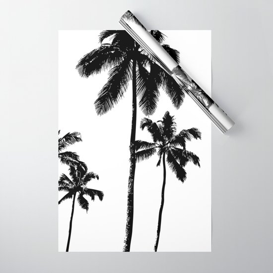 Monochrome tropical palms by peggieprints