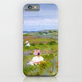 William Merritt Chase - Landscape, Shinnecock, Long Island - Digital Remastered Edition iPhone Case