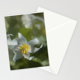 Avalanche Lily Painterly Stationery Cards