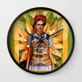 FRIDA KAHLO MARIPOSA Wall Clock