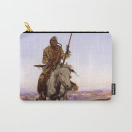 """A Cree Indian"" by Charles Russell Carry-All Pouch"