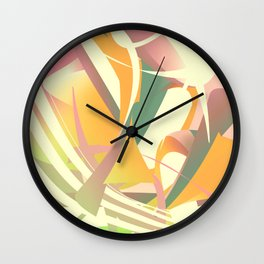 Stripes and colors 2 Wall Clock