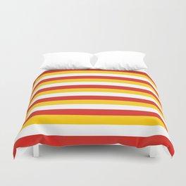 Bhutan dorset flag stripes Duvet Cover