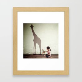 I WONDER Framed Art Print