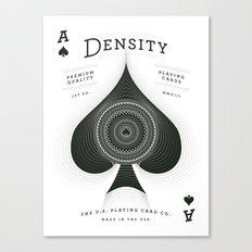 Ace of Spades — Density Canvas Print