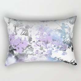 Watercolor Floral Lavender Teal Gray Rectangular Pillow