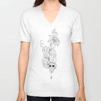 weird V-neck T-shirts featuring Weird by Greenhouse Social Club