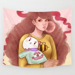 Bee and Puppycat Wall Tapestry