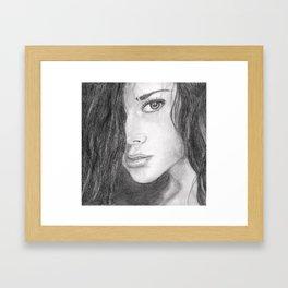 Female face 2 Framed Art Print