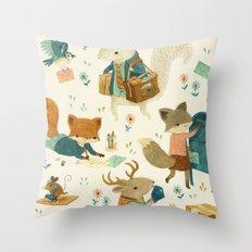 Critter Post Throw Pillow
