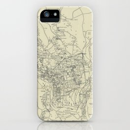 Vintage Map of Jerusalem Israel (1917) iPhone Case