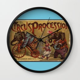 The Circus Procession Wall Clock