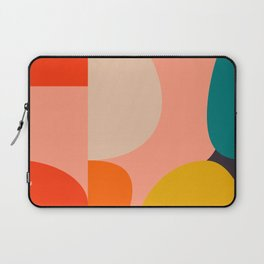 geometry shape mid century organic blush curry teal Laptop Sleeve