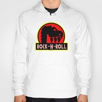 rock n roll Hoodies featuring Rock n Roll lives! by Los Espada Art
