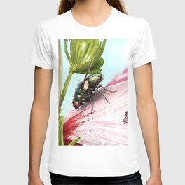 Fly on a flower 15 T-shirt