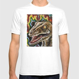 Rainbow Raptor:: Colorful Dinosaur T-shirt