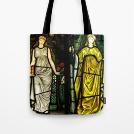 "William Morris ""Four seasons"" (Dining Room at Cragside House, Northumberland, UK) Tote Bag"