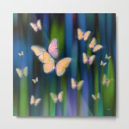 Silken Wings Metal Print