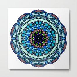Colored hand painted vinyl mandala Metal Print