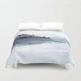 Misty Lake Morning Duvet Cover