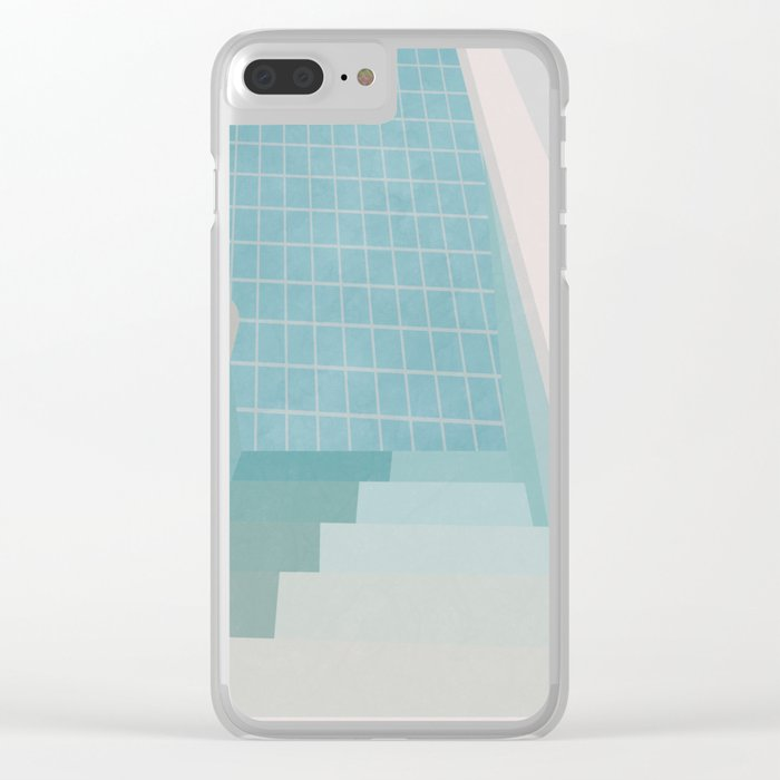 Swimming Pool Summer Clear iPhone Case